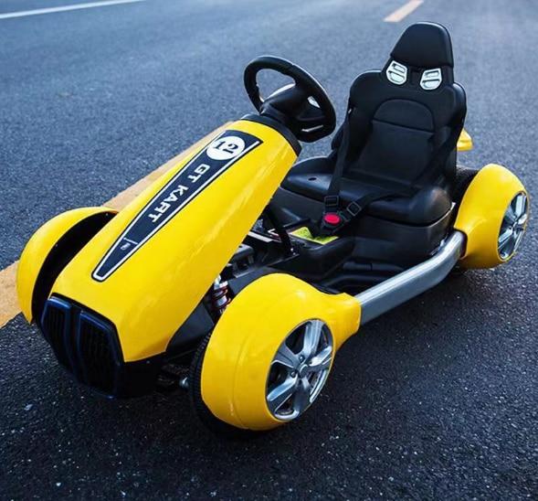 Os carros do kart do pedal do metal para crianças de 10 anos, karting bonde do ir das crianças