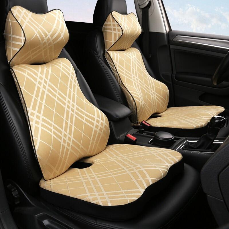 Memoria de coche de algodón reposacabezas cuello almohada para cintura mano coser coche para Honda Accord 7 2003-2007 Odyssey 2005-2010