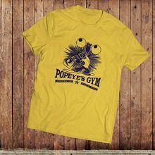 Popeye Gym T-Shirt, Funny classic cartoon tee, 1980's TV SHow, eighties cartoon