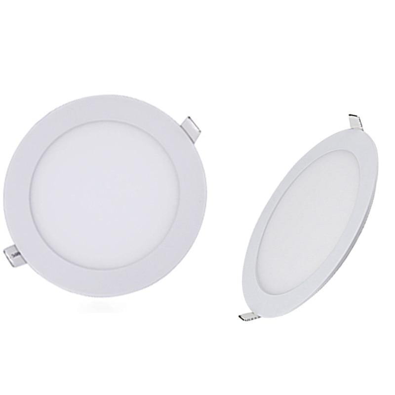 LED Panel Dimmable 3W 6W 9W 15w 18w 12w Recessed Downlights Round Spot Down Lamps 110V 220V  Spot Indoor Ceiling Home Lighting