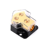 amp copper power distribution block 2 gauge in 4 gauge out for car audio splitter ground distribution connecting block