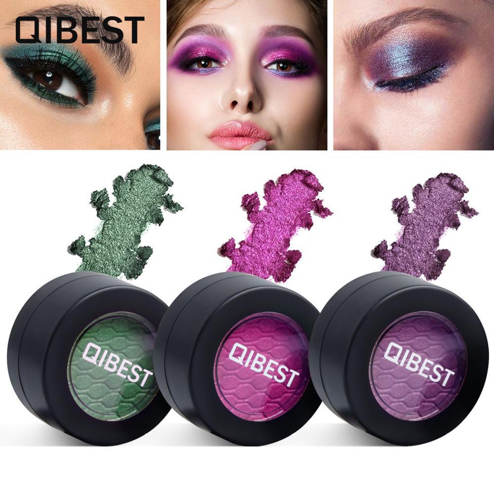 QIBEST-sombra De Ojos mate brillante, 24 colores, maquillaje Para Mujer, Sombras De Ojos Profesional