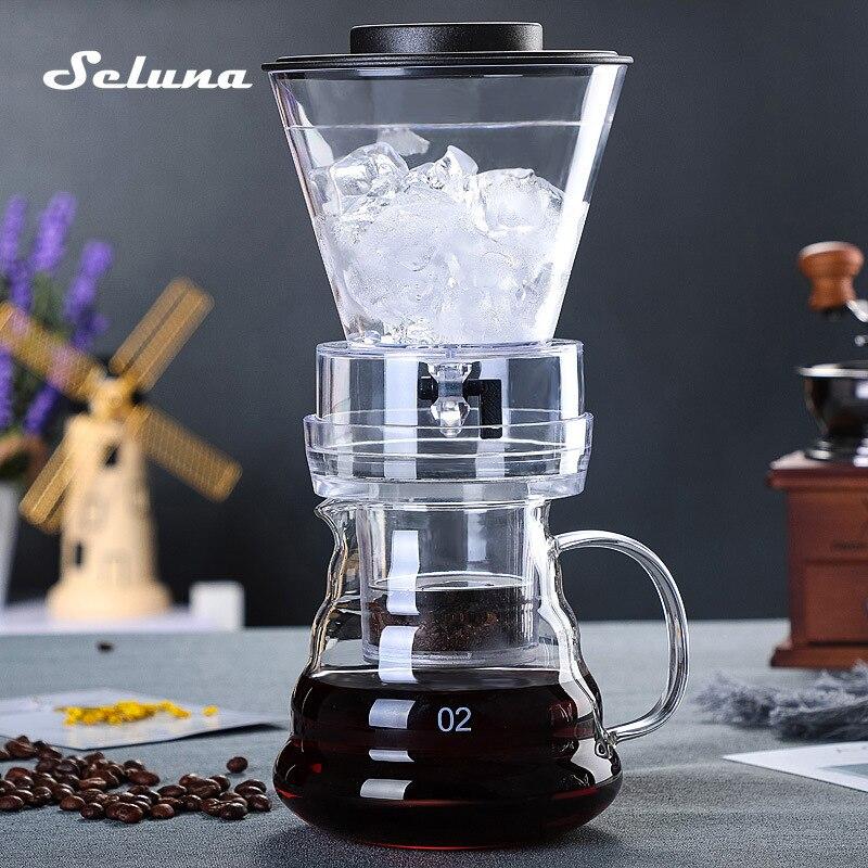 Cafetera de cristal con goteo de hielo, cafetera regulable, filtro de goteo, ollas de fermentación en frío, cafetera Espresso
