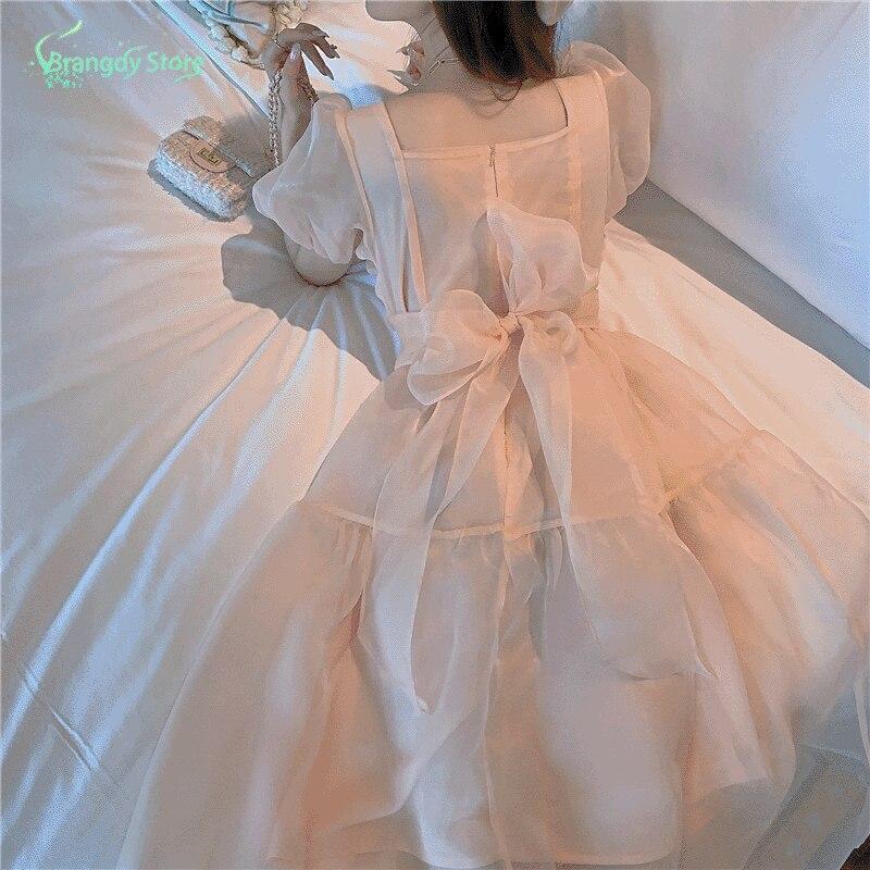 Cute Maxi Dresses For Women Summer PROM Dress Kawaii Dress 2021 Harajuku Dresses For Women Vintage H