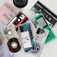 Custodia per fotocamera Vintage retro per Samsung Galaxy S10 S21 S20 FE S9 S8 Plus telefono Coque Note 20 Ultra 9 10 Lite Shell Cassette Music