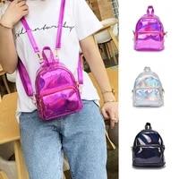 2020 silver pink fashion laser backpack women girls bag holographic small size backpacks for teenage girls mochila feminina
