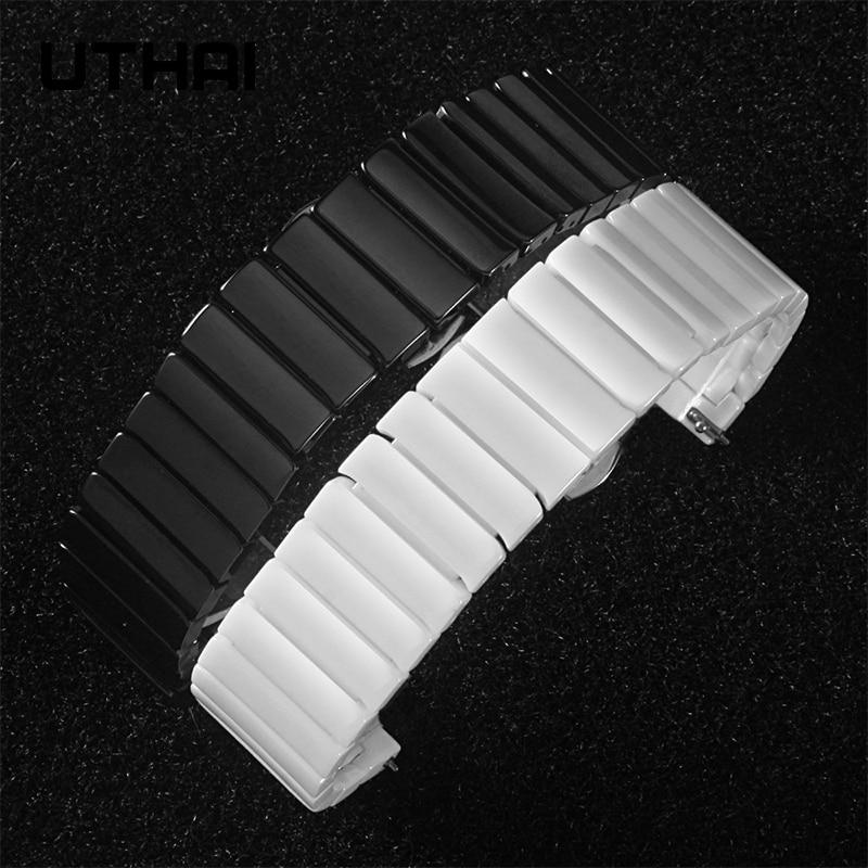 UTHAI C03 Ceramic 20/22 / 24mm watch strap watch band For Samsung watch high quality Ceramic strap For apple watch 1/2/3/4/5