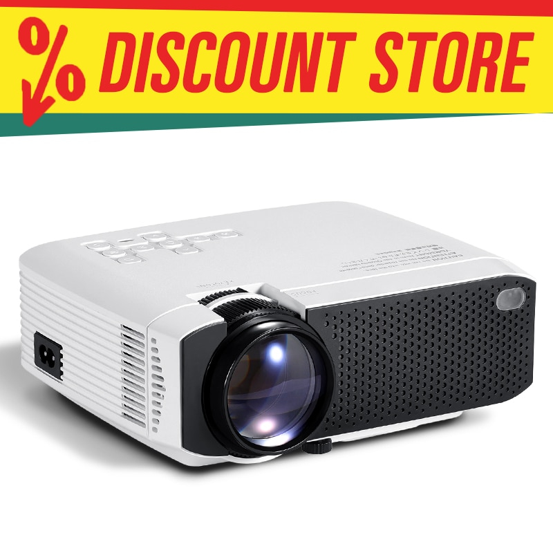جهاز عرض صغير AUN D50/s| دعم أندرويد واي فاي 4K (X96Q)| كامل HD 1080P سينما منزلية ثلاثية الأبعاد | جهاز عرض للهاتف اختياري