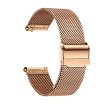 1pcs Black/Rose/Silver Watch Strap 20mm Stainless Steel for Amazfit BIP Watch Band for Amazfit GTR 42mm Metal Bracelet