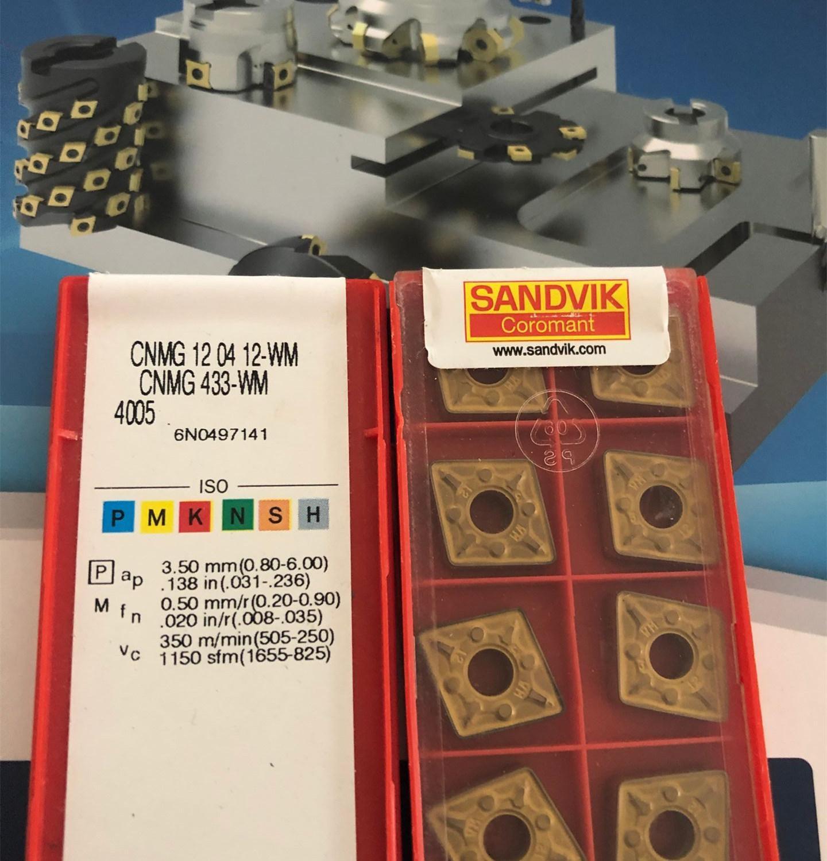 SANDVIK CNMG120412-WM 4005 CNMG433-WM 4005 insertos de carburo 10 Uds