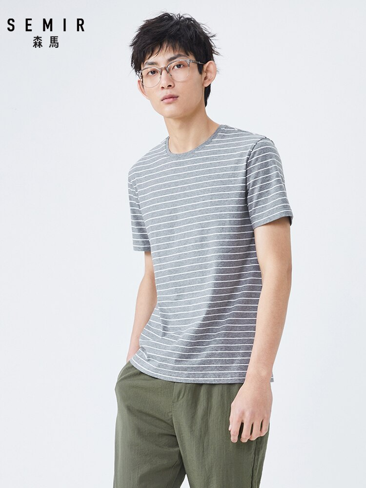 Cotton Short sleeve T shirt men summer new 2020 printing trend HK style tshirt youth t-shirt for man