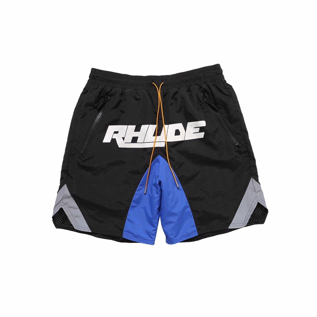 2020ss High Quality 1:1 RHUDE Shorts Men Women Casual Streetwear 3M Reflection Rhude Shorts Black Blue Design Breechcloth недорого