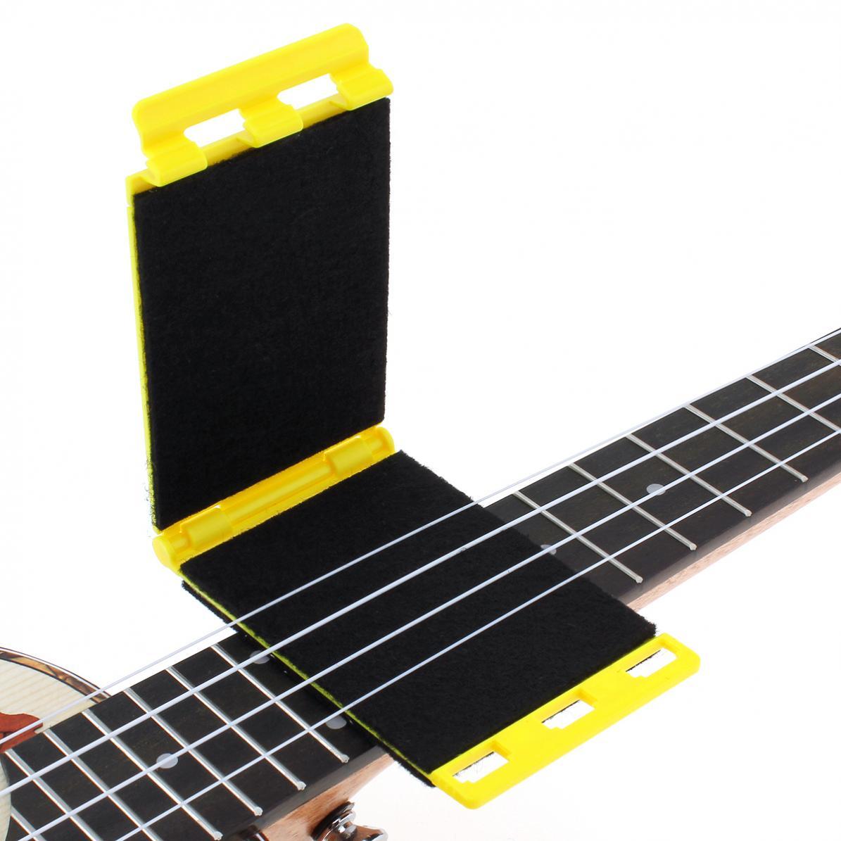Limpiador de cuerdas de guitarra de dos caras con cepillo de fibra suave pequeño y duradero para guitarra ukelele Banjo Bass