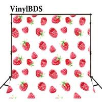VinylBDS אדום קריקטורה פטל צילום רקע יילוד דיוקן תפאורות תינוק יפה פירות תפאורות צילום סטודיו