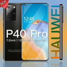 Сотовый телефон Hauwei P40 pro Android смартфон 12GBRAM 512GBROM телефон 5800 мач батарея 7,2 дюймов 4G глобальная версия