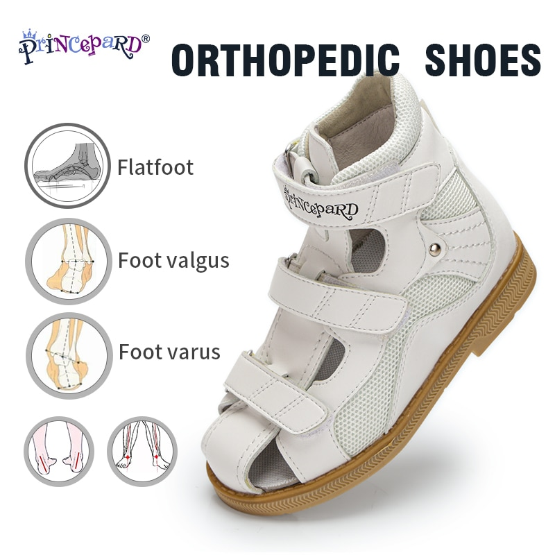 Princepard 2021 Children Orthopedic Shoes for Flat Feet Summer Kids Shoes Closed Toe Boys Girls Sandals with Ankle Support enlarge