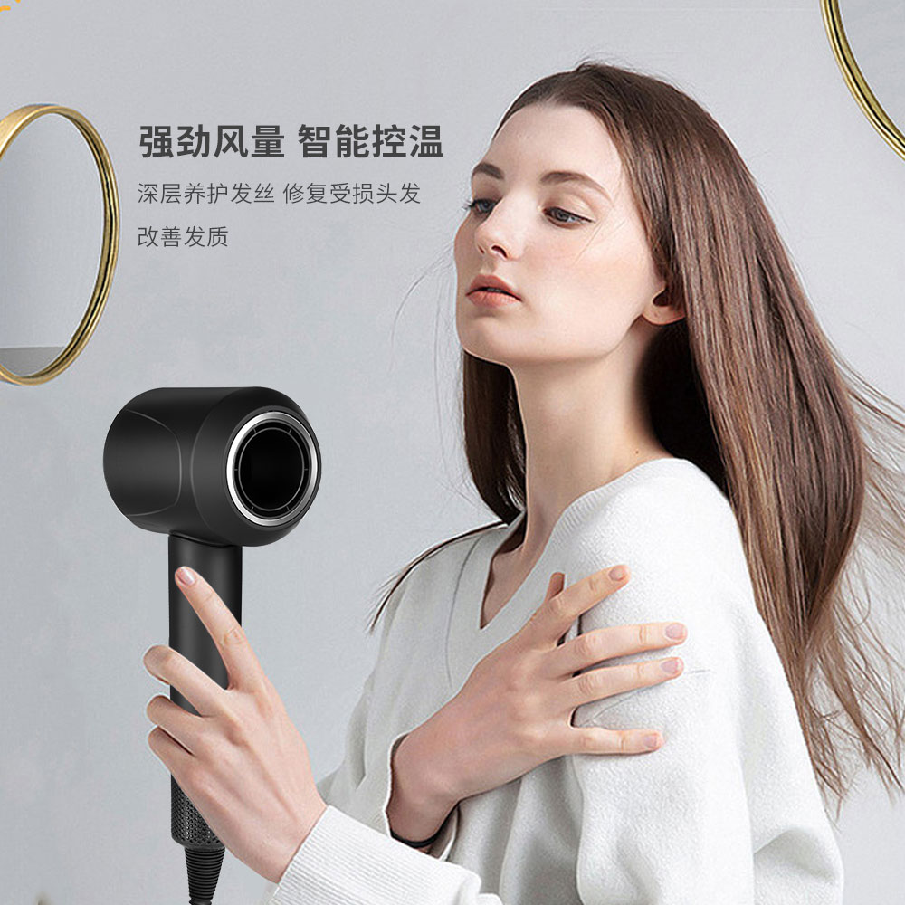 Hair Dryer Professional 1600W Leafless Hairdryer Temeperature Control Salon Dryer Hot &Cold Wind Negative Ionic Blow Dryer enlarge