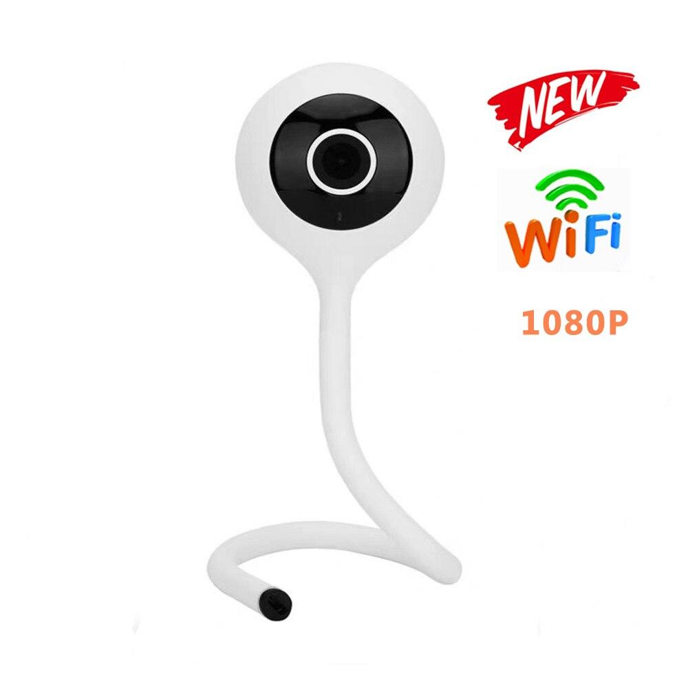 Monitor de bebé vigilancia de seguridad CCTV Cámara 1080P HD Mini cámara IP WiFi seguimiento automático monitoreo de temperatura inteligente