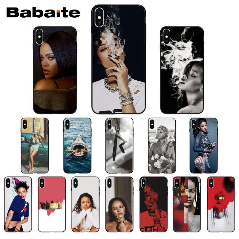 Rihanna Anti Travail Drake negro teléfono caso para iPhone 8 7 6 6S Plus 5 5S SE 11 11pro max XR X XS X MAX Coque móvil de la cáscara de la cubierta