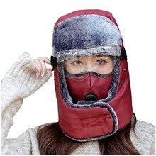Drop Ship Unisex Vrouwen Mannen Cool Bomber Hoed Verstelbare Winter Warm Winddicht Masker Hoed Goggle Set Voor Outdoor Fietsen