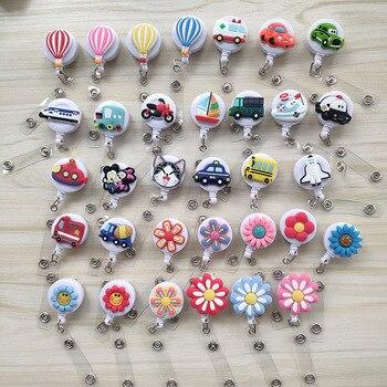 50pcs/lot Retractable Cute Id Badge Reel Nursing Student Reel Badge Clip Holder Nurse Accessories School Supplies YS16