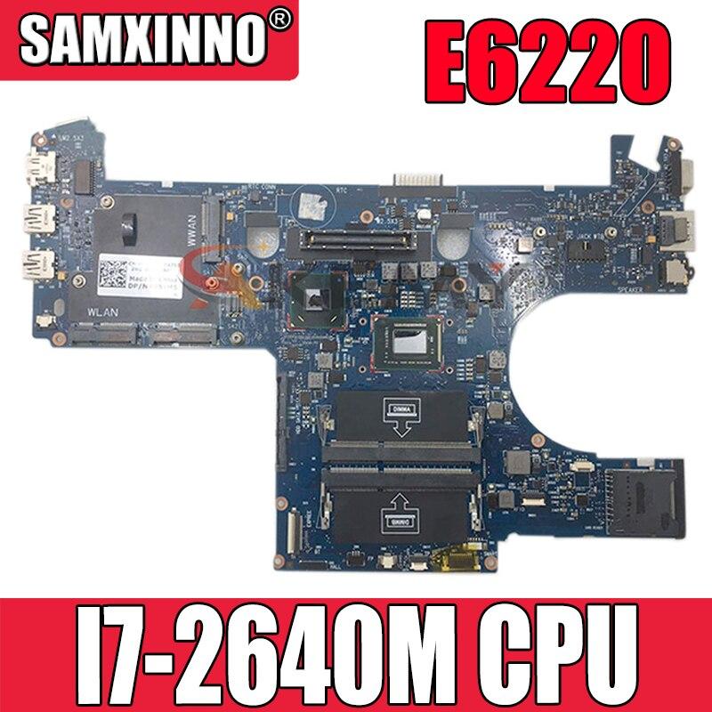 الأصلي اللوحة المحمول لديل خط العرض E6220 I7-2640M اللوحة CN-00W5HN 00W5HN 6050A2428801-MB-A01 I7-2640M SR043 QM67