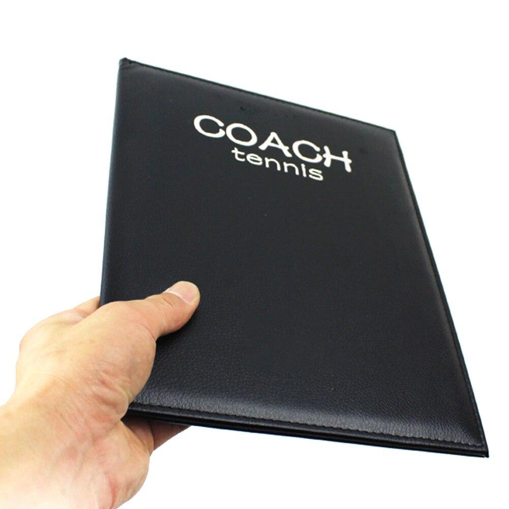 Entrenador plegable, juego borrable, profesional, portátil, Accesorios de Tenis, entrenadores con pluma, cuero de imitación, tablero magnético táctico
