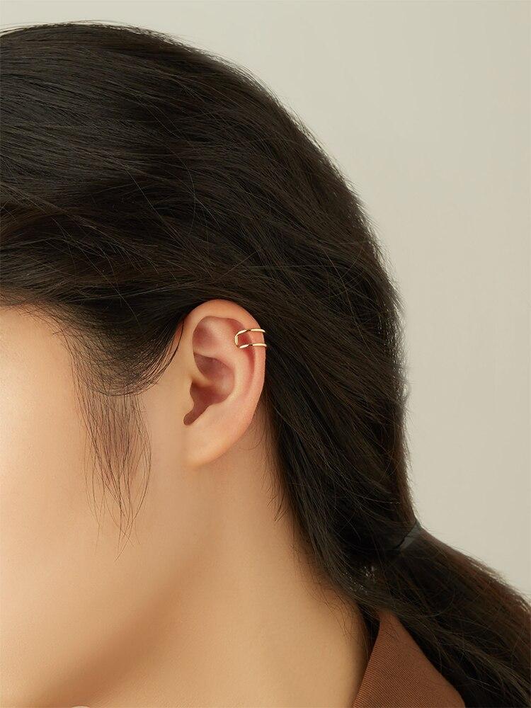 SILVERHOO 925 Sterling Silver Clip Earrings For Women Gold Earring Female Anniversary Minimalist Fashion Jewelry Recommend