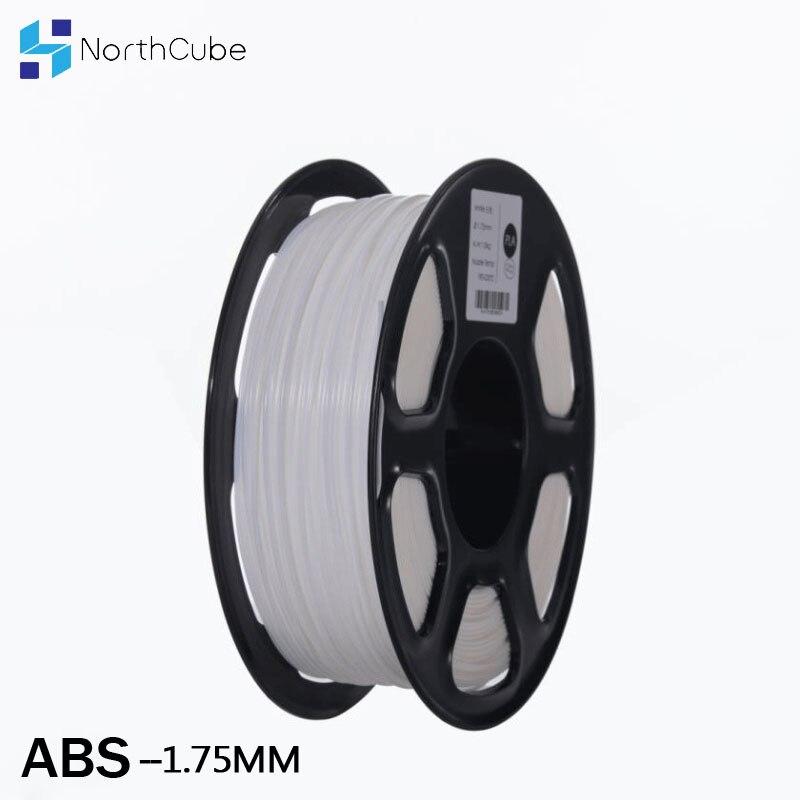 خيط ABS 1.75 مللي متر 1 كجم 3d-Printer البلاستيك abs مواد الطباعة 3D خيوط مناسبة للطباعة الأبيض اللون ل 3d طابعة و 3d القلم
