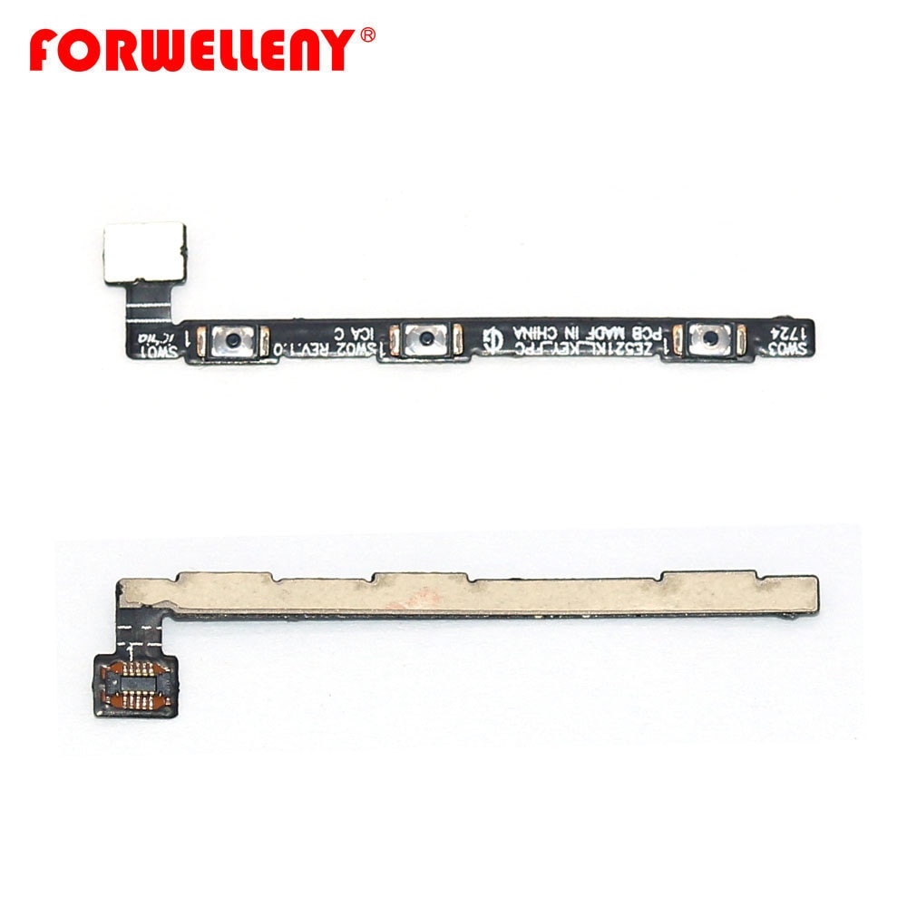chenghaoran 50 100 pcs for iphone 4 4s new power volume switch key button replacement For ASUS ZenFone 4 ZE554KL Power Volume control Side Switch Button Key Flex Cable