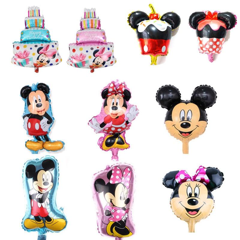 100 unids/lote mini tamaño 30-40cm mickey minnie globos de cumpleaños para chico juguetes nuevo estilo mickey para globos de fiesta