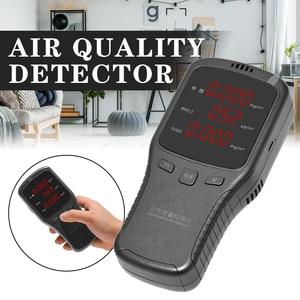 1PCS Digital Formaldehyde Detector Multifunctional Gas Analyzer Air Quality HCHO TVOC PM1.0 PM2.5 PM10 Monitor for Household Car