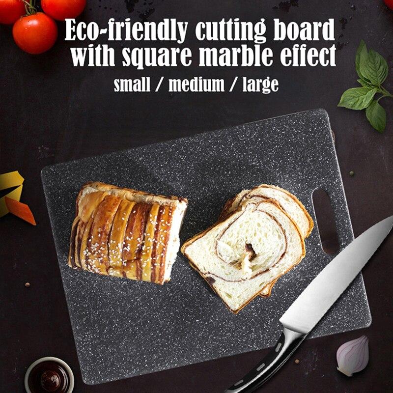 Tabla de cortar de plástico de imitación de mármol utensilios de cocina para fruta tabla para cortar carne tabla de cortar PP cocina tabla de cortar