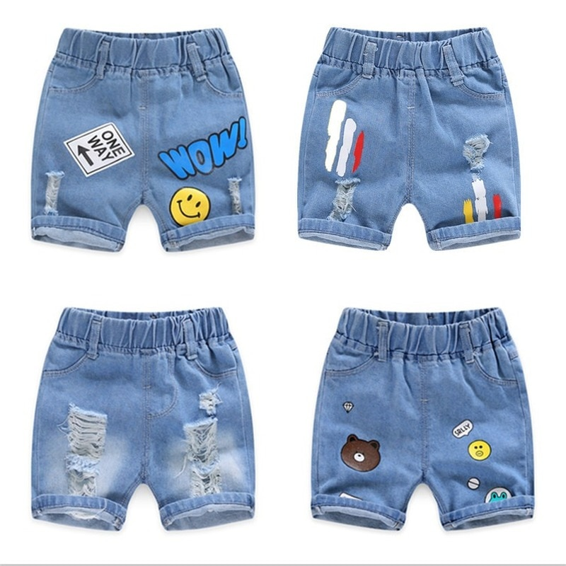 Summer Boys Denim Shorts Cartoon Shorts for Kids 1-8years Clothes Children Pants Toddler Trousers Clothing Jeans Pants