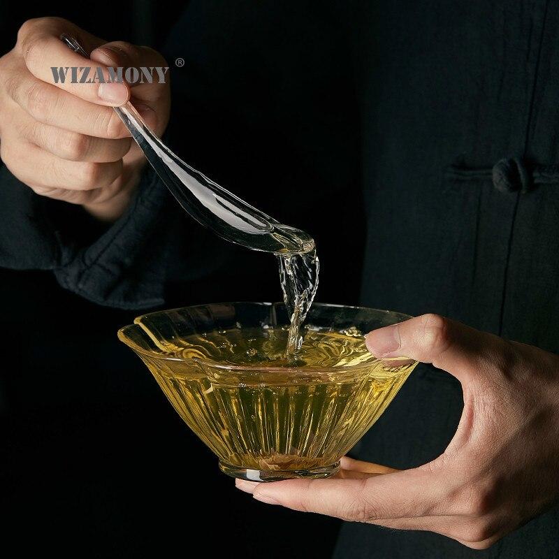 Qifengju huakou-وعاء شاي زجاجي ، إبريق شاي منزلي ، مقاوم للحرارة ، بسيط ، طقم شاي الكونغ فو