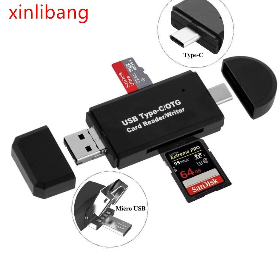 Tipo C micro USB 3 en 1 OTG lector de tarjetas de...