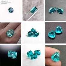 Bricolage bijoux vert glace AAA   1 pièce roi de Tourmaline coupe naturelle 3A Paraiba en corindon Spinel diverses formes, bricolage bijou vert glace