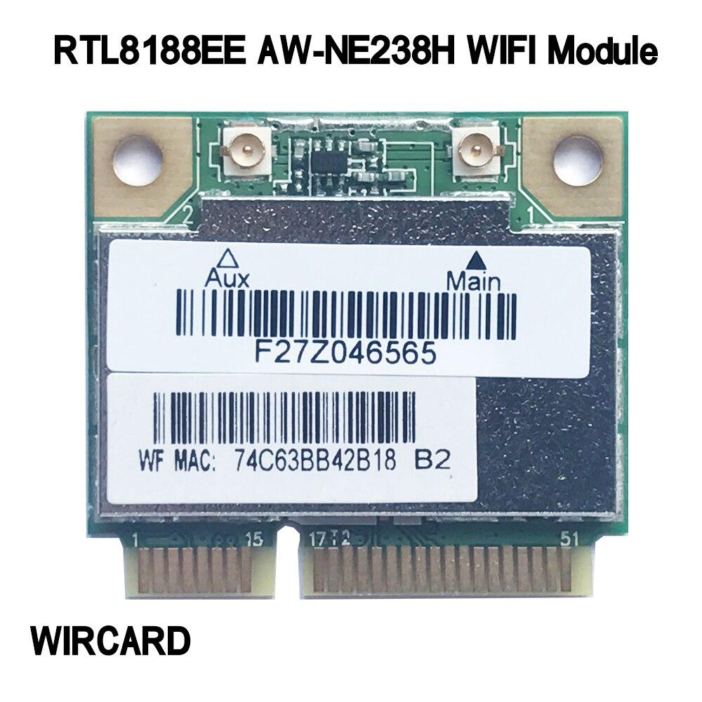 Nuevo módulo WiFi tarjeta WIRCARD RTL8188EE AW-NE238H mini PCI-E