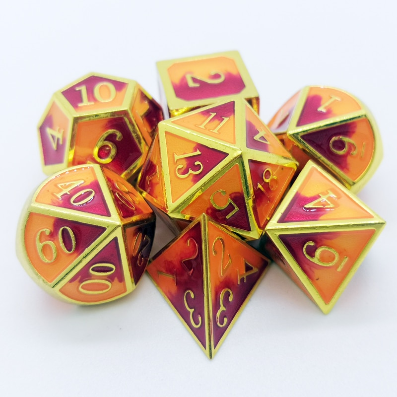 DND board game role-playing Polyhedron dice RPG MTG metal set