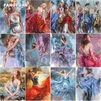 diamond painting women smoking sexy body dancing in a long skirt vintage home decor cross stitch mosaic kits full square drill