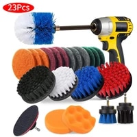 19pieces cleaning brush attachment set with extend long for bathroom shower scrubbing household all purpose drill brush