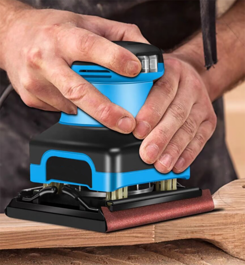 Sandpaper grinder Paint wall putty Small Polishing machine Woodworking Electric wood furniture Flat sanding machine 400W enlarge