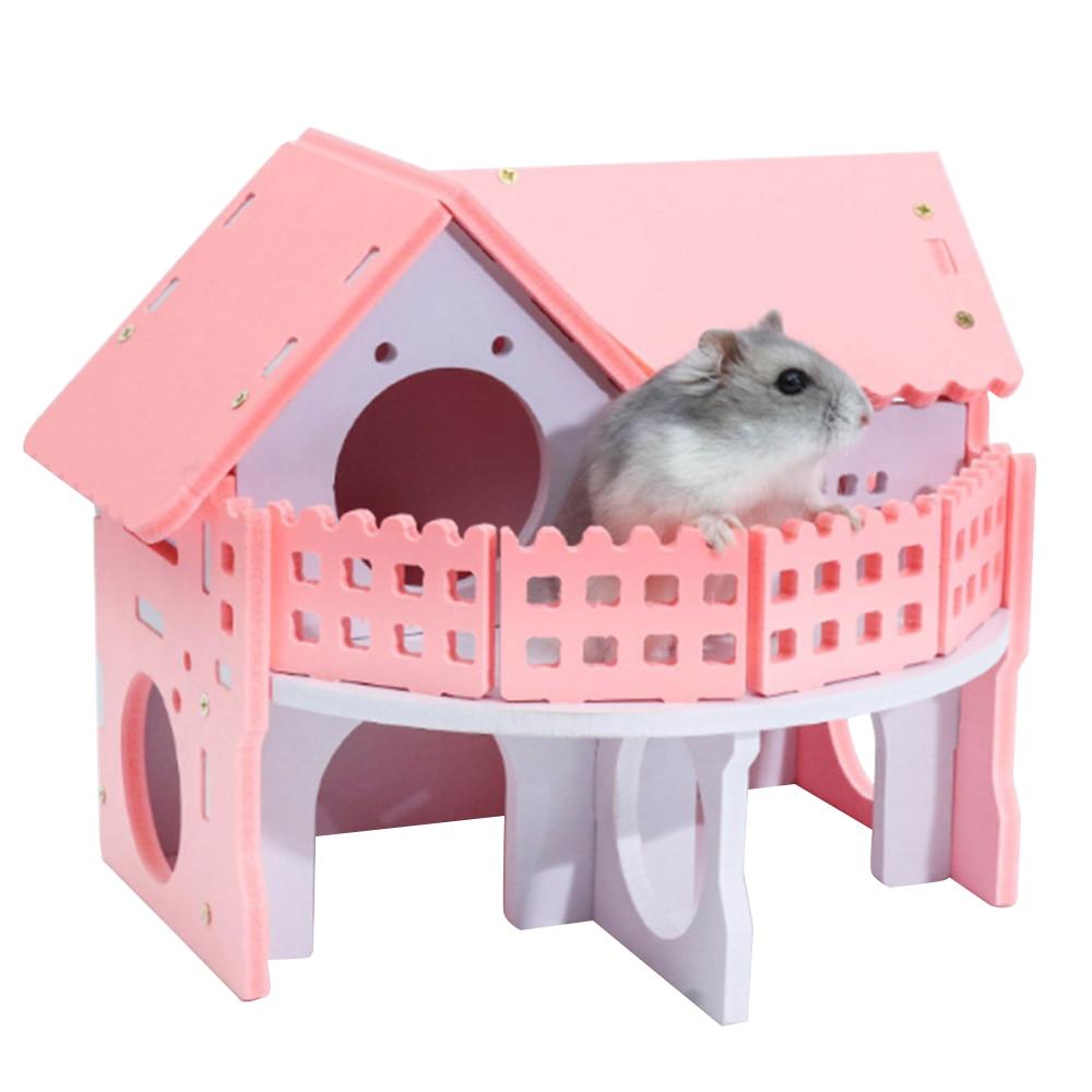 Lindas jaulas pequeñas de animales conejo hámster casa ratón mascota jaula casa monopatín de una sola capa con ruedas giratorias casas de jerbo