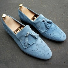Men Leather Fashion Shoes Low Heel Loafers Shoes Dress Shoes Brogue Shoes Spring Ankle Boots Vintage
