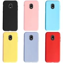Telefon kılıfı için Samsung Galaxy J3 J5 J7 2017 kılıf J330 J530 J730 şeker renk yumuşak TPU arka kapak samsung J3 J5 J7 2017 kılıf