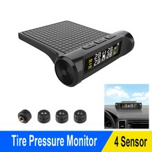 Car TPMS Tyre Pressure Monitoring System Battery Digital LCD Display Auto External Security Alarm Sy