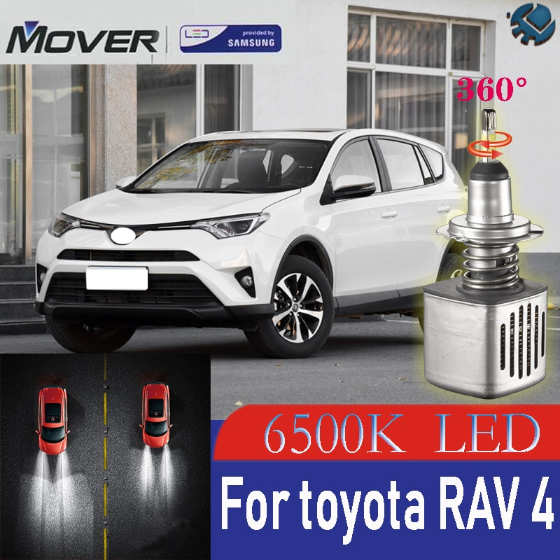 Car Headlight Bulbs LED Provided By SAMSUNG For TOYOTA Rav4 2015 2016 2017 LED Car 6500K White Light Auto Headlight  2X