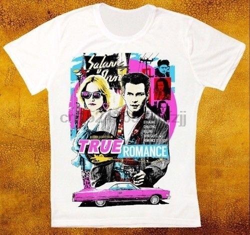 el-verdadero-romance-pelicula-cartel-slater-arquette-hopper-tarantino-hombres-t-shirt