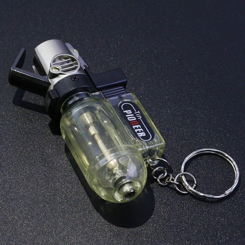 Mini pistola poderosa tocha de soldagem mais leve portátil chaveiro charuto tubo isqueiro turbo à prova vento cigarro ignição gadgets