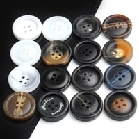 100pcs resin buttons coats woolen windbreaker suit decoration buckle large high end four eye round button accessories
